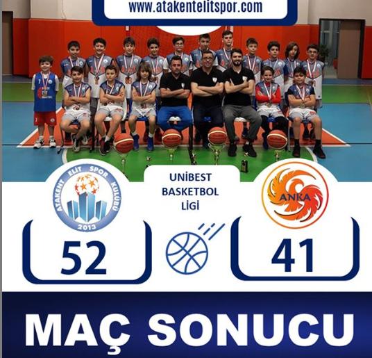 Atakent Elit S.K &Anka S.K Arasında yapılan Basketbol Karşılaşması Sonucunda 52/41 Atakent Elit S.K  Galip Gelmiştir.