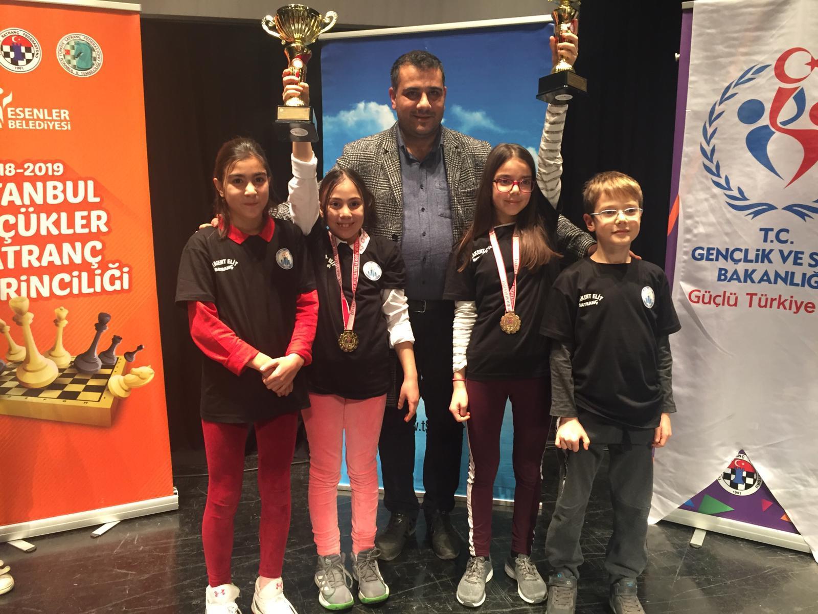 İstanbul Küçükler SATRANÇ Şampiyonasında  10 Yaş Kızlar Kategorisi il Birincisi —Ela Başpınar 11 Yaş Kızlar Kategorisi il Birincisi– Nehir Ertürk 12 yaş Kızlar Kategorisi il Beşincisi– Dila Başpınar